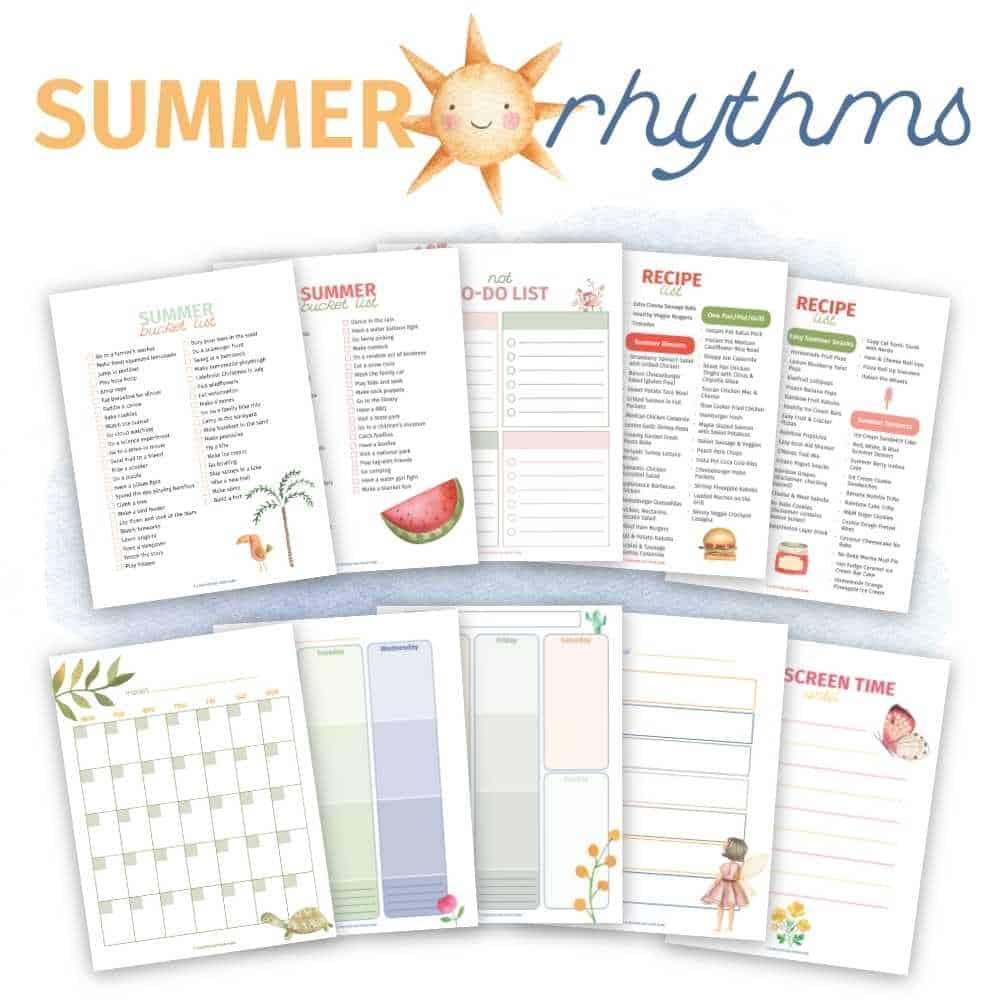 summer rhythms printable pack